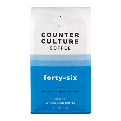 Bag of Counter Culture Forty-Six coffee.