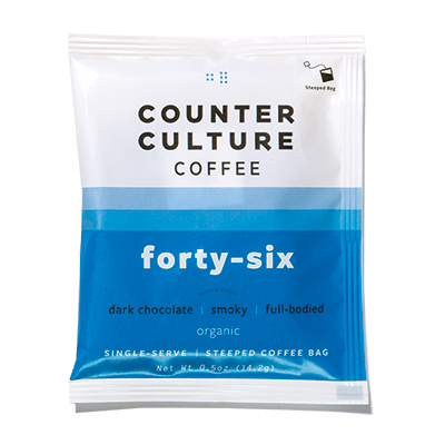 Single Serve Coffee Pouches, Forty Six Blend, 10 pack
