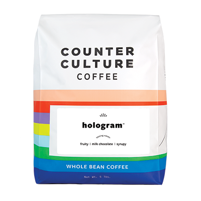 Five pound bag of Counter Culture Hologram coffee.