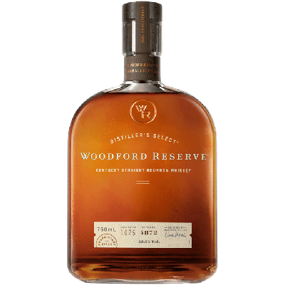 Bottle of Woodford Reserver Bourbon.