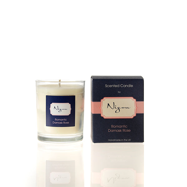 Romantic Damask Rose Scented Candle
