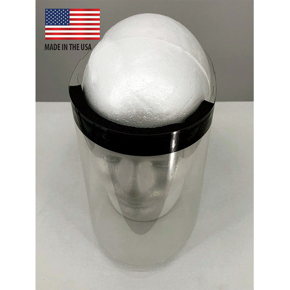 Protective Face Shields with Foam Headband/FDA Approved Materials (75 Shields/Box)