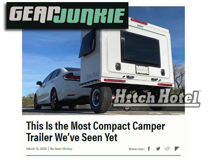 "Gear Junkie ""This Is the Most Compact Camper Trailer We've Seen Yet"""