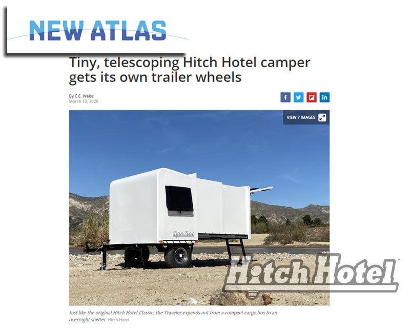 "NewAtlas - ""Tiny, telescoping Hitch Hotel camper gets its own trailer wheels"""