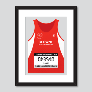 Clowne Road Runners personal best vest print