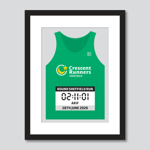 Crescent Runners personal best vest print