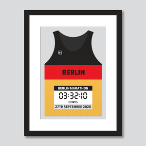 Berlin Marathon German flag personal best vest print