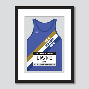 Great North Run inspirational quote personal best vest