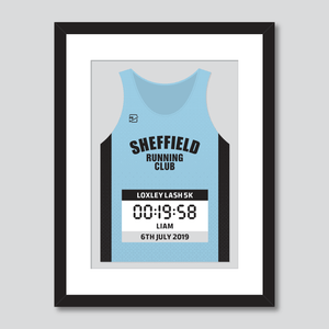 Sheffield Running Club personal best vest print