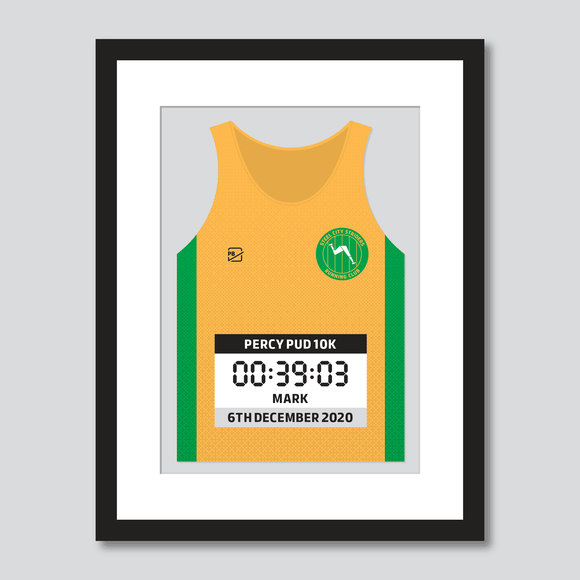 Steel City Striders RC personal best vest print