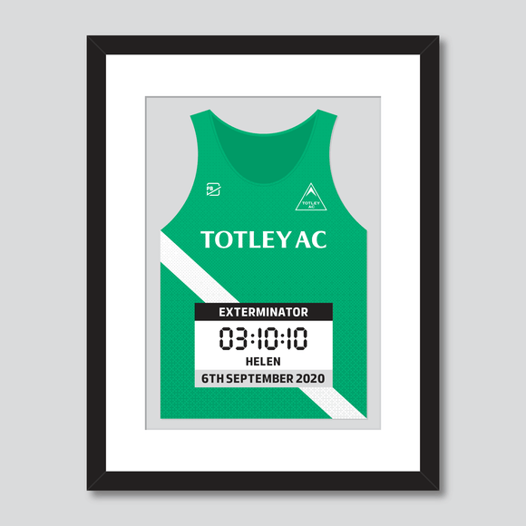 Totley AC personal best vest print