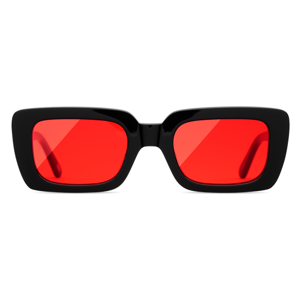 Lazer Solid Red Black