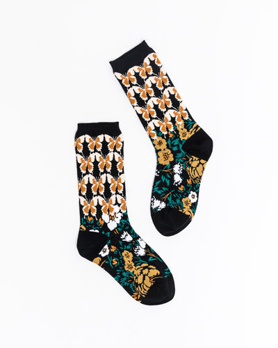 Butterfly Craze Mid High Sock