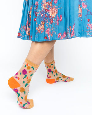 Ditsy Floral Sheer Ankle Sock