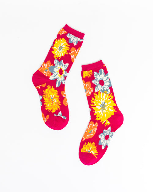 Flower Power Crew Sock