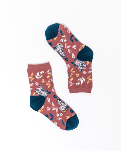 Tossed Butterfly Ankle Sock