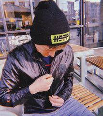 Logo Beanie in Black