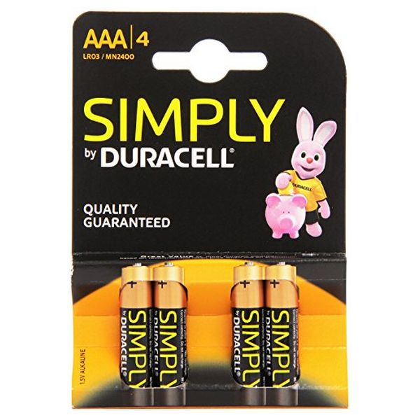 Batterie Alcaline DURACELL Simply DURSIMLR3P4B LR03 AAA 1.5V (4 pcs)