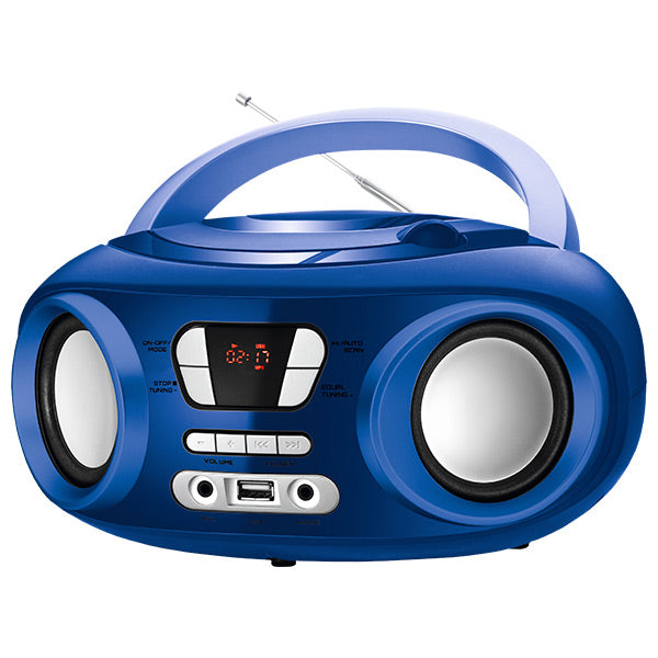 "Radio CD Bluetooth MP3 9"" BRIGMTON W-501 USB Azzurro"
