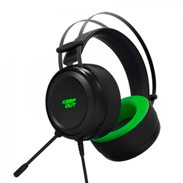Auricolari con Microfono Gaming KEEP OUT HX10 Nero Verde