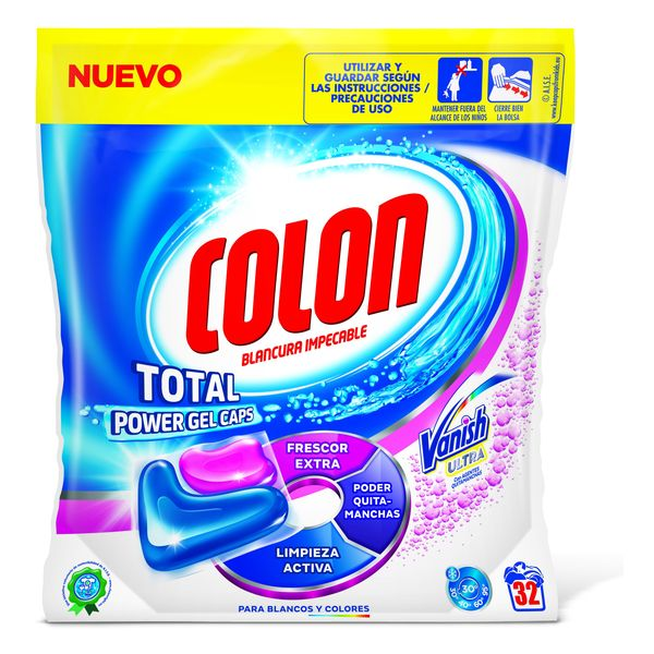 Detersivo per Bucato Colon Total Power Vanish (32 Lavaggi)