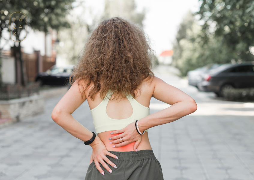 sudden back pain to a lady who was jogging