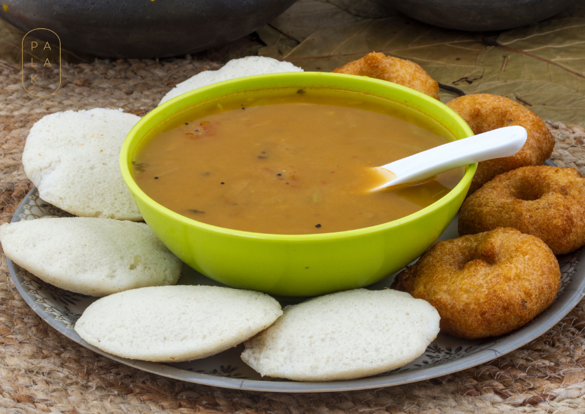 idli with sambhar daal
