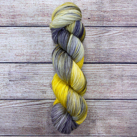 Salisbury Sock - Storm's End - Yellow OOAK