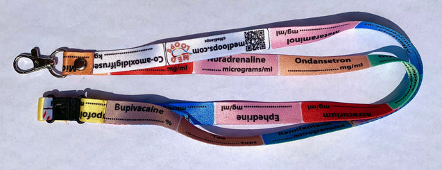 Anaesthetic Lanyard single UK version - MedLoops
