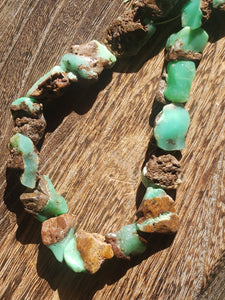 Raw Chrysoprase Nugget Beads