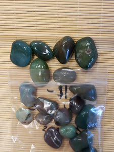 Green Agate Tumble Stones