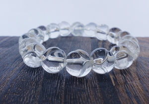 Carved Quartz Stretch Bracelet