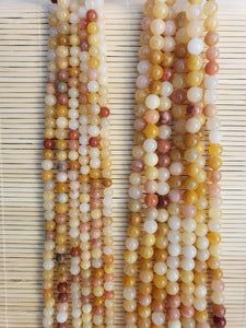 Yellow-Orange Aventurine Beads