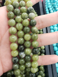 Natural Green Jade Beads