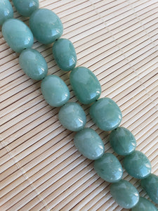 Green Aventurine Oval Nugget Beads