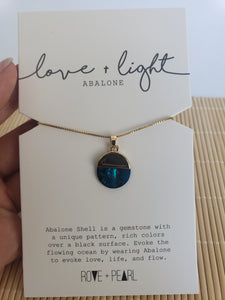 Love and Light-Jewelry For Inspiration- Abalone Necklace