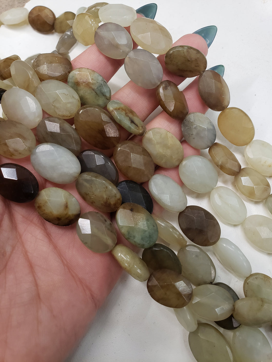 Jade Beads- Oval, Faceted
