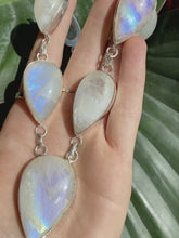 Load and play video in Gallery viewer, S.S. Teardrop Moonstone Necklace