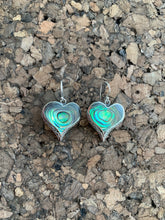 Load image into Gallery viewer, S.S. Heart Dangly Earrings