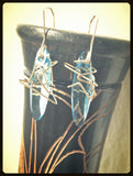 Space Jazz earrings - blue