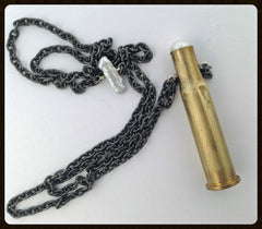 Brass and steel bullet necklace