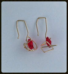 Space Jazz earrings - red