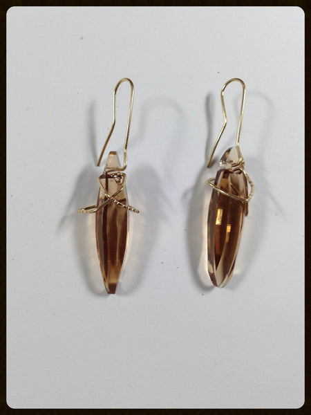 Space Jazz earrings - brown Swarovski
