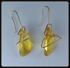Space Jazz earrings - yellow