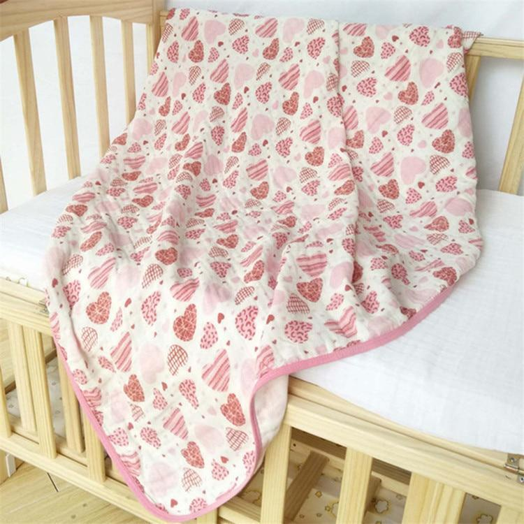 6 Layers muslin quilt baby blanket - EssentialsOnEarth
