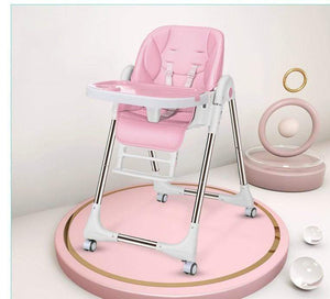 Baby Products Multi function Foldable Portable Baby High Chair with Wheels