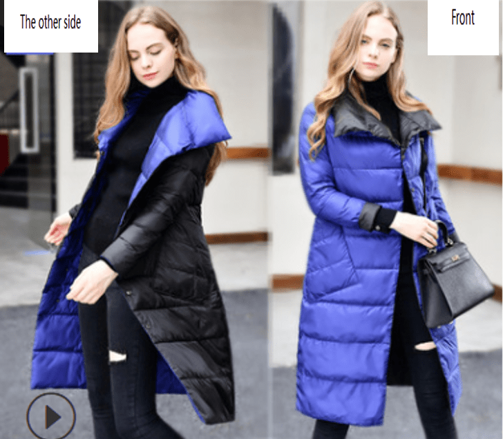 Duck Down Long Women Warm Winter puffer Jacket - EssentialsOnEarth