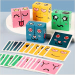 Toys and Games Kids Emoji Toys Wooden Puzzle Face changing Cube