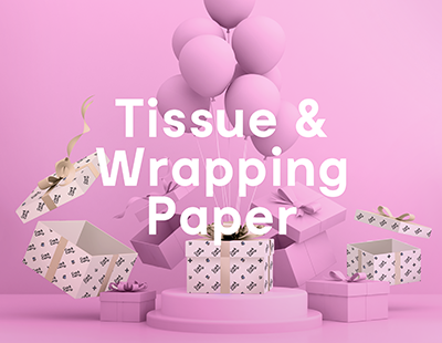 Cup & Carry Tissue and wrapping paper range, custom print