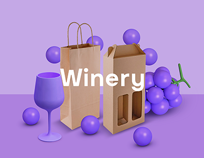 Cup & Carry Custom Printed Winery bags